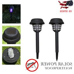 1-2Pc Mosquito Pest Bug Zapper Insect Killer Lamp Solar Powe