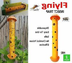2 FLYING INSECT TRAPS Disposable MOSQUITO FLIES Glue Zapper