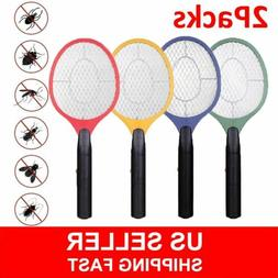2 Packs Electric Racket Fly Swatter Mosquito Bug Zapper Wasp