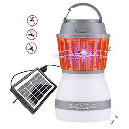 AHongem 2018 2in1 Lamp & Solar Powered Bug Zapper Outdoor UV