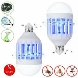 2Pack Electric Zapper Light Bulb Bug Mosquito Fly Insect Kil