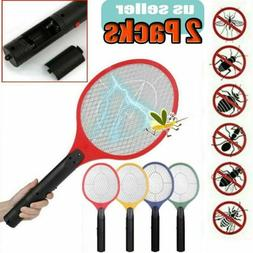 2X Electric High-voltage Electric Fly Swatter Mosquito Racke