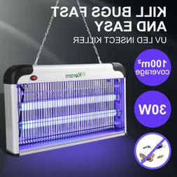 30W Electric Insect Mosquito Fly Killer Bug Zapper UV LED Li