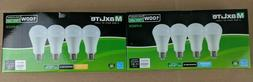 4 Pack Maxlite LED Light Bulbs 15W A19 100W Replacement Dayl