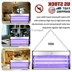 40W Electric Mosquito Killer UV Bug Zapper Flying Insect Kil