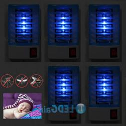 5Pcs Indoor LED Electric Mosquito Fly Bug Insect Trap Zapper