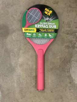 Greenscapes Black Flag Handheld 2750 Volts Bug Zapper Pink F