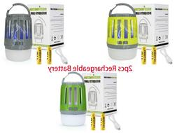 Bug Zapper Camping Lamp with 2PCS USB Rechargeable Battery f