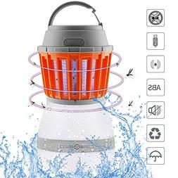 Bug Zapper & LED Camping Lantern 2-in-1, Rechargeable LED La