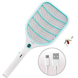 Bug Zapper Racket,Electric Fly Swatter,Fly Killer and Mosqui