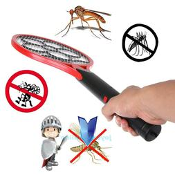 Cordless Electric Tennis Racket Mosquito Fly Swatter Bug Zap