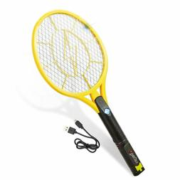 Tregini Electric Fly Swatter–Rechargeable Bug Zapper Tenni