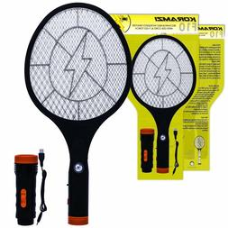 Electric Mosquito Swatter Bug Zapper Rechargeable Battery,Fl