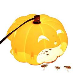 Flea Lamp - Aolvo Pumpkin Style Flea Trap Flea Catcher Odorl