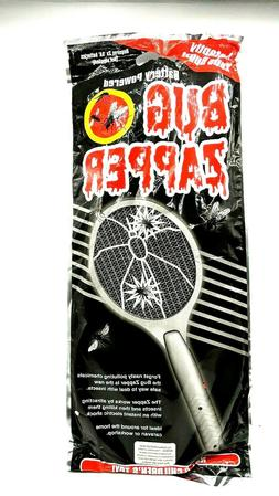 Handheld Electric Bug Zapper Battery Powered Racket  Zap Fly
