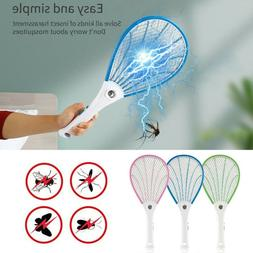 Handheld LED Electric Mosquito Fly Swatter Zapper Killer Bug