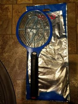 Handheld Bug Zapper Tennis Racket Electronic Fly swatter BLU