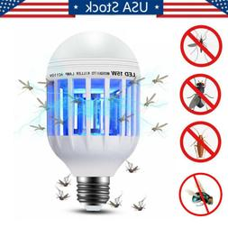 Home 2 in 1 Light Zapper LED Light Bulb Bug Mosquito Fly Ins