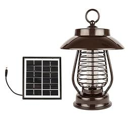 HQST Solar LED Outdoor Waterproof Bug Zapper for Home, Garde
