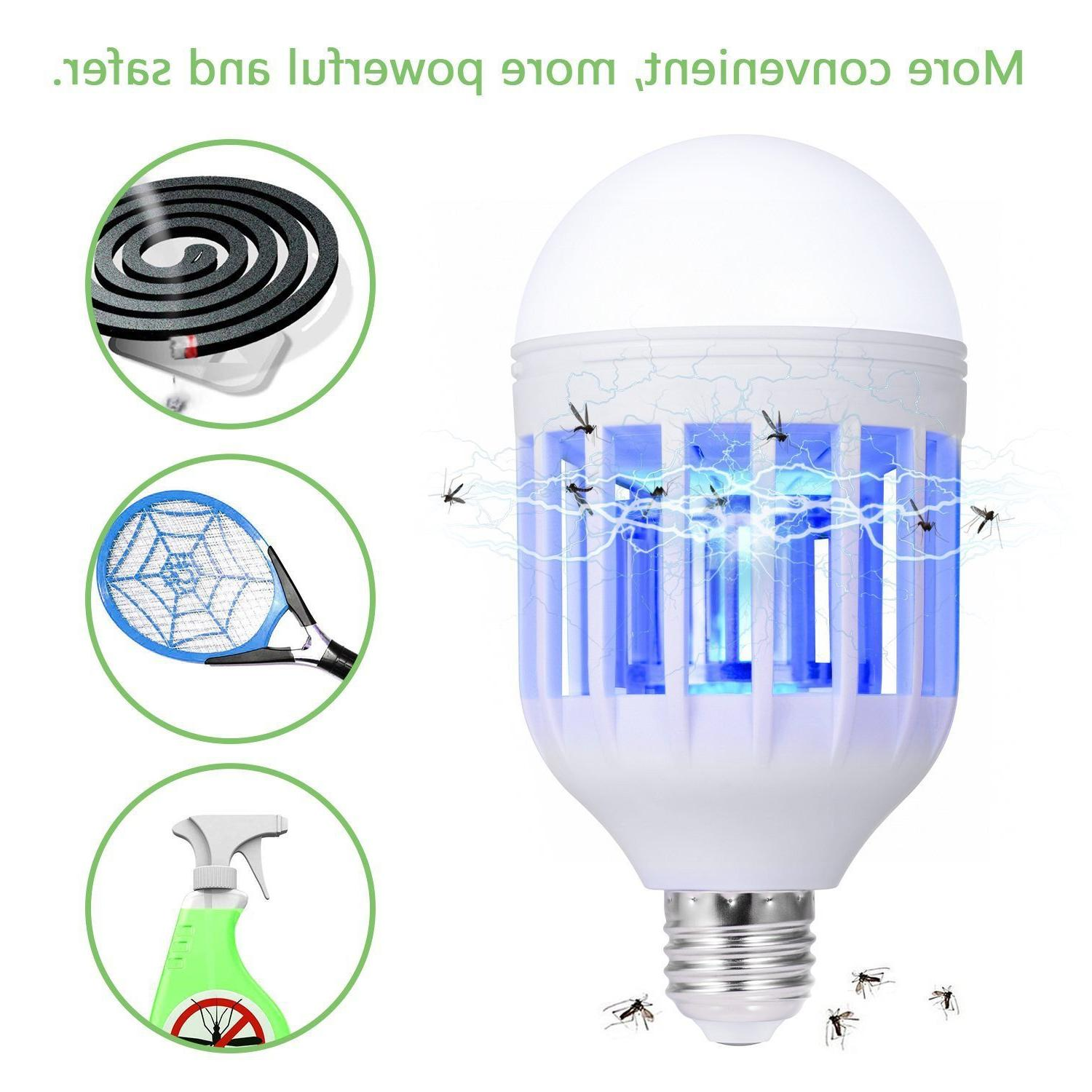 Bug Zapper Light Bulb 110V Mosquito Killer for Home Indoor O