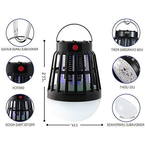 TOPBRY Model Mosquito killer/Bug zapper and LED Charging, Battery & Portable, Hiking