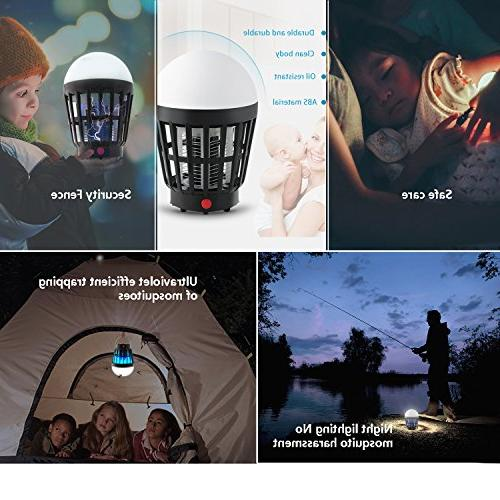 TOPBRY Leading Edge Model 2-in-1 Rechargeable Mosquito killer/Bug zapper LED Camping Lantern Light, and Charging, 2200mAh Portable, For Hiking