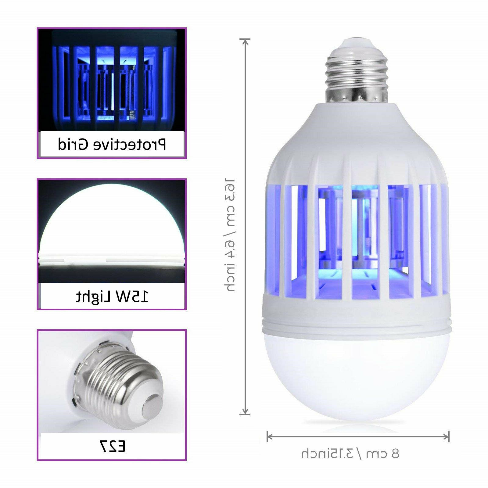 2PCS 1 Light LED Bulb Insect Bulb
