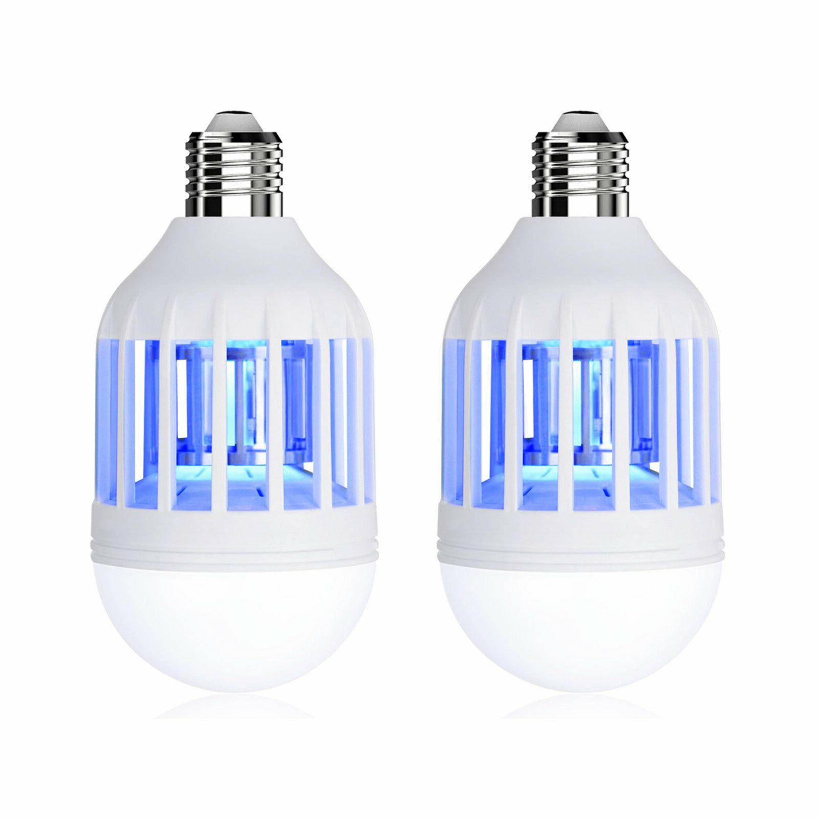 2PCS 2 in Light LED Bulb Mosquito Fly Insect Killer Bulb