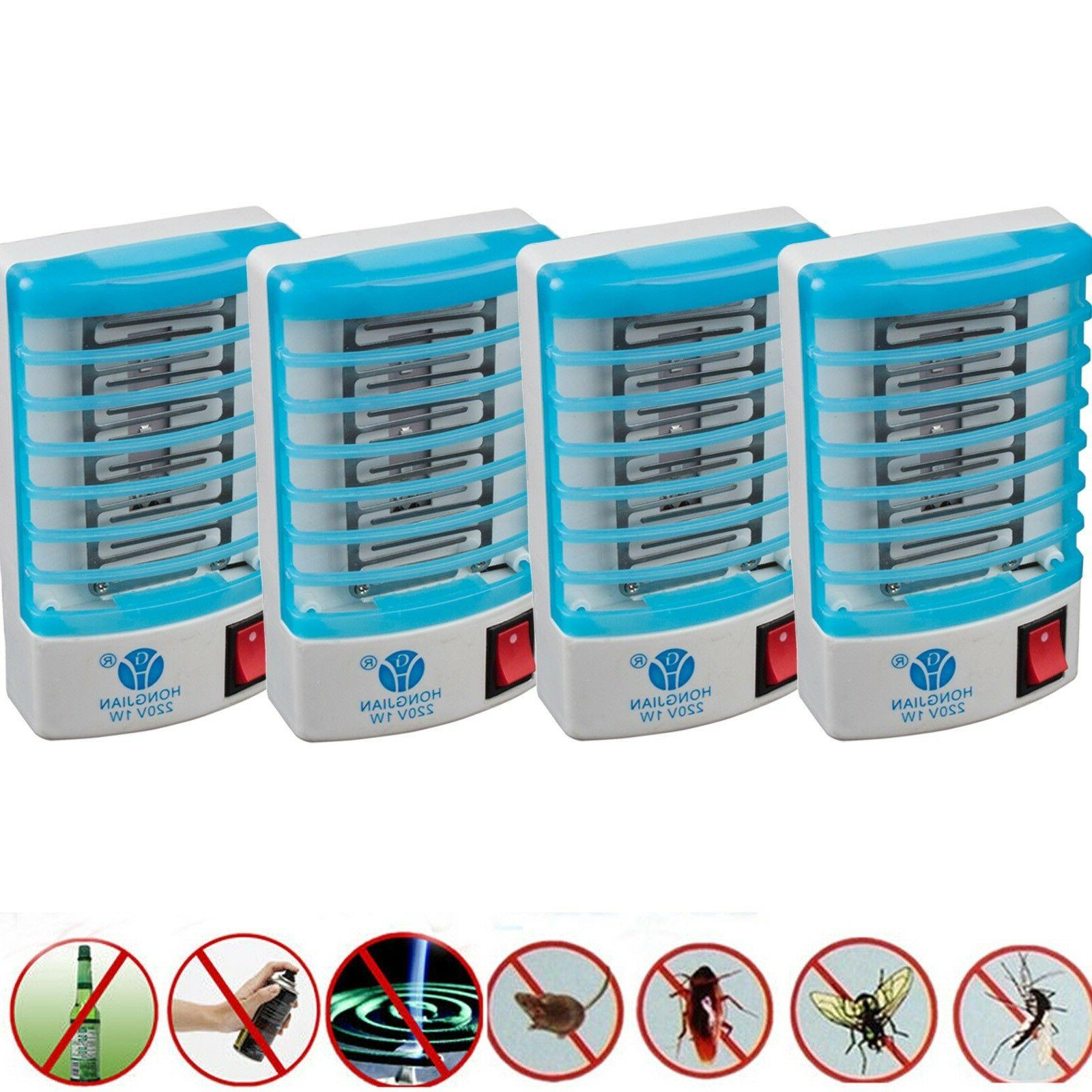 4pcs electronic indoor mosquito killer bug zapper