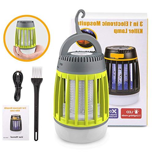 BATTOP Bug Lantern & & Power Waterproof Camping Gear - Rechargeable Mosquito Light