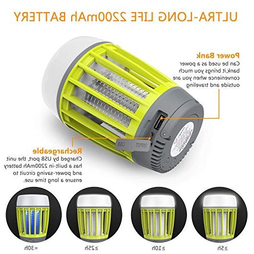 BATTOP Bug Outdoor, 3 in 1 Lantern & & Power Bank - - Rechargeable Light