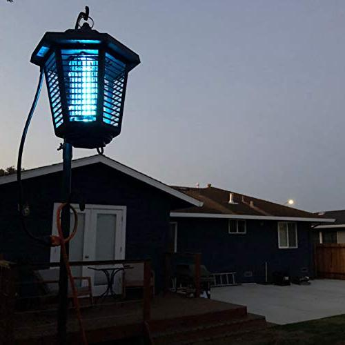 Nozkito Lantern for Outdoor and Use. Killer UV Lamp. for Backyard, and Garden. Powerful 2000 Volt Grid. Weatherproof Easy Clean