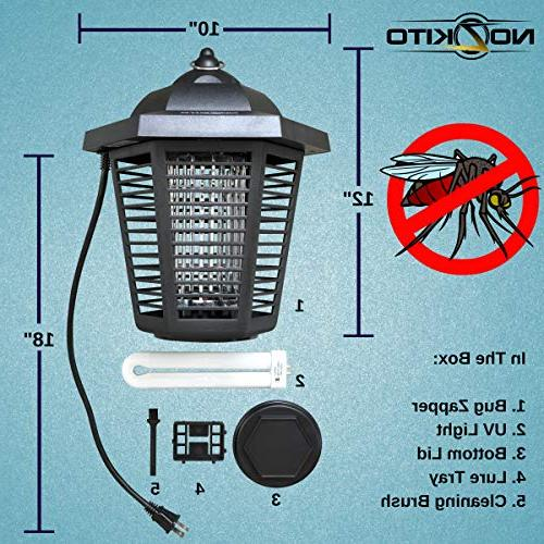 Nozkito Bug for Outdoor and Indoor Killer UV Great for Backyard, Patio, and 2000 Volt Grid. Weatherproof
