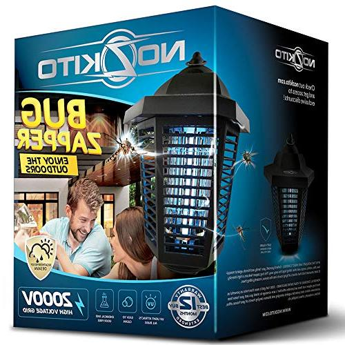 Nozkito Bug Zapper Lantern for Outdoor Use. and Killer Great for Backyard, Patio, Porch and Garden. Volt Grid. Weatherproof Easy