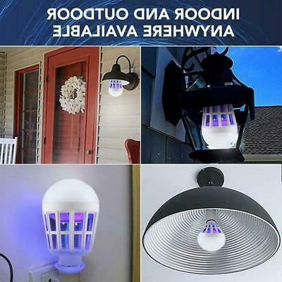 Bug Zapper LED Light Bulb Mosquito Indoor Insect Killer