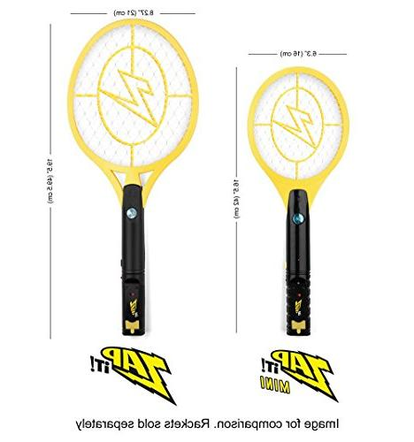ZAP IT! Mini Twin Pack - Rechargeable Fly and Bug Zapper - USB Super-Bright Light to The Dark - Safe to Touch