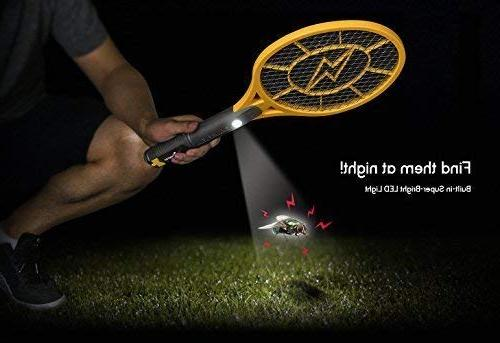 Beastron Bug Racket, Electric with USB Rechargeable, Pack