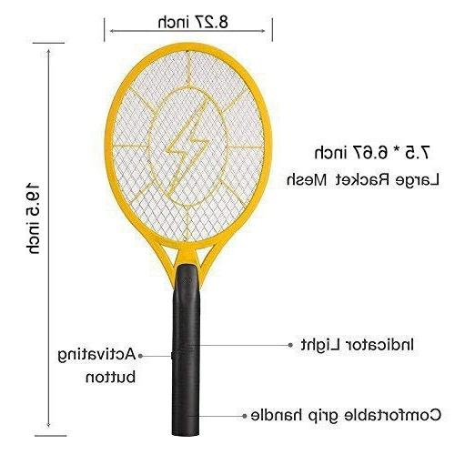 Beastron Racket, Electric Fly Killer with USB Rechargeable, Pack