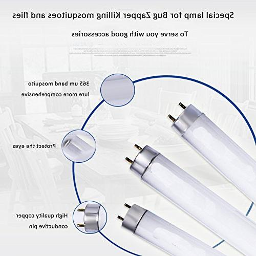 VC-Time Zapper, 2PCS T8 Home Control Light Tube for 20W Mosquito Tube