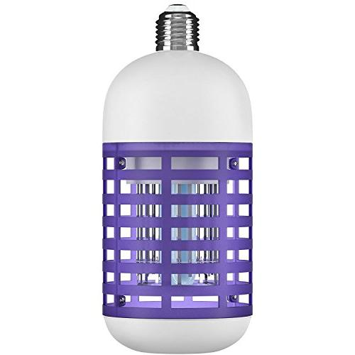 Hoont Bulb Socket Bug Zapper Powerful Insect Killer and Other - Fits in 110V E26/ E27 Light Socket for Indoor Porch Patio