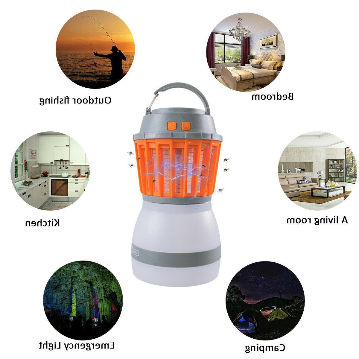 Camping Bug Zapper Tent Light-Waterproof Mosquito Killer LED