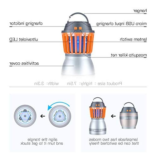 FREDI Camping Lights with Bug Function,a IP67 Rechargeable Lantern Hiking,Camping,Backpacking,Fishing,Emergency