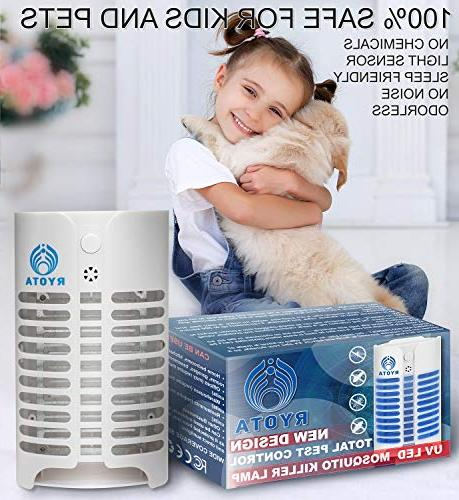 RYOTA Electric Bug Zapper with   Electronic Repellent Plug-in   Odorless Noiseless Fly   Powerful Convenient Lamp Bugs