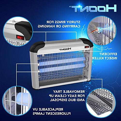 Hoont Indoor Fly Zapper Trap Catcher Protects 6,000 Sq. and Killer, Mosquito Killer Insect