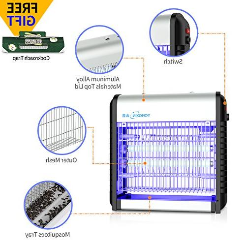 YONGXIN Mosquito Zapper, Powerful 2500V Watts Fly Trap, Mosquito Killer for Commercial and Use