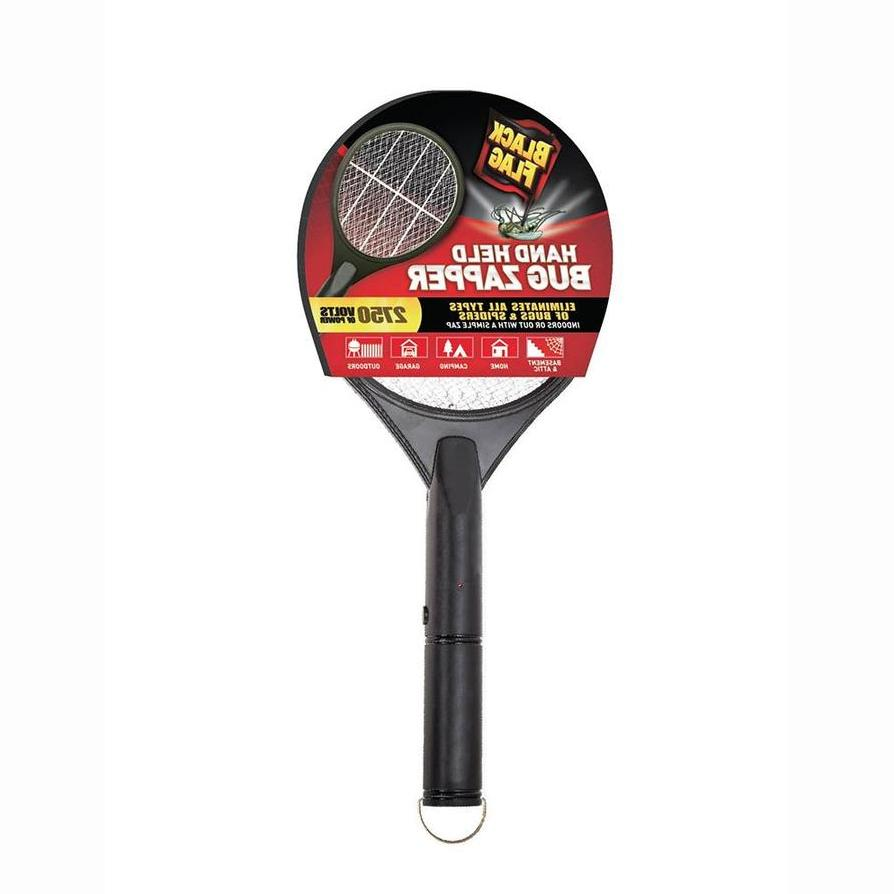 Black Flag Hand Held Bug Zapper Insect Racket Mosquito Kille