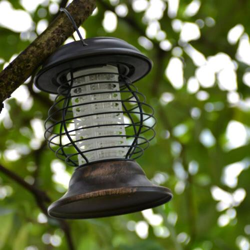 led solar garden bug zapper mosquito killer