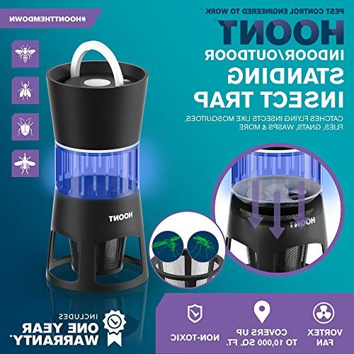 Hoont Mosquito and Gnat Standing Trap Bright Mosquitoes, Wasps, Etc. Perfect Home, etc.