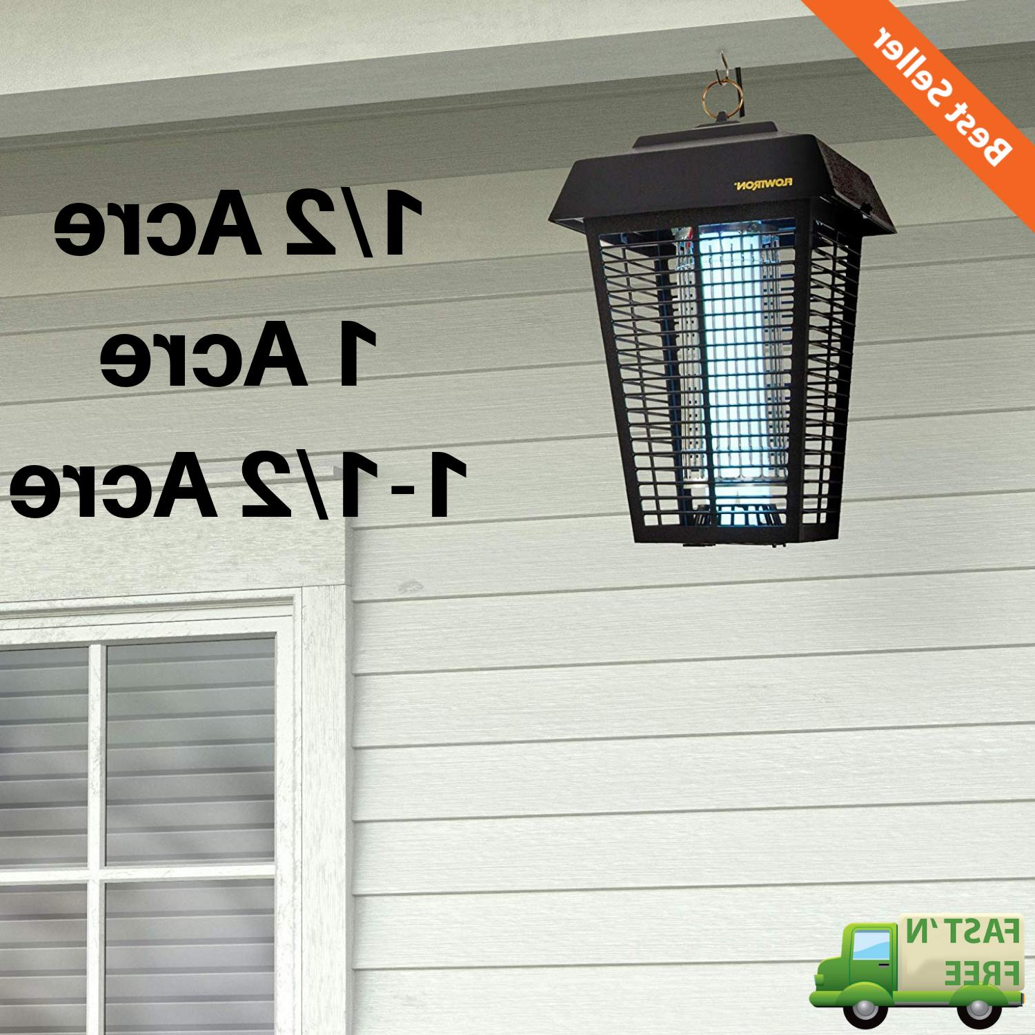 outdoor electric bug zapper light mosquito flying
