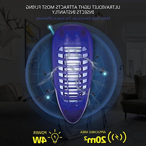YUNLIGHTS Plug Killer, Electric Zapper Light, Mosquito Trap Insect Killer for Home Yard Patio